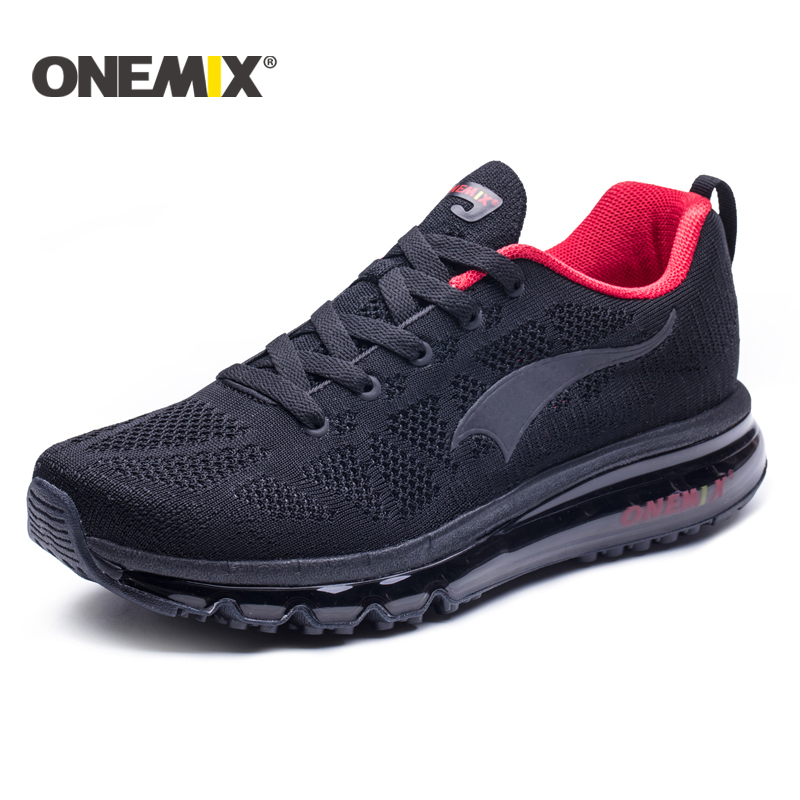ONEMIX 2018 summer new Running Shoes for men Air cushion running shoes outdoor walking shoes men Eur 39-46 free shipping 2017 zoom air running shoes men light weight mesh material dmx sport shoes men eur size 40 45 free shipping
