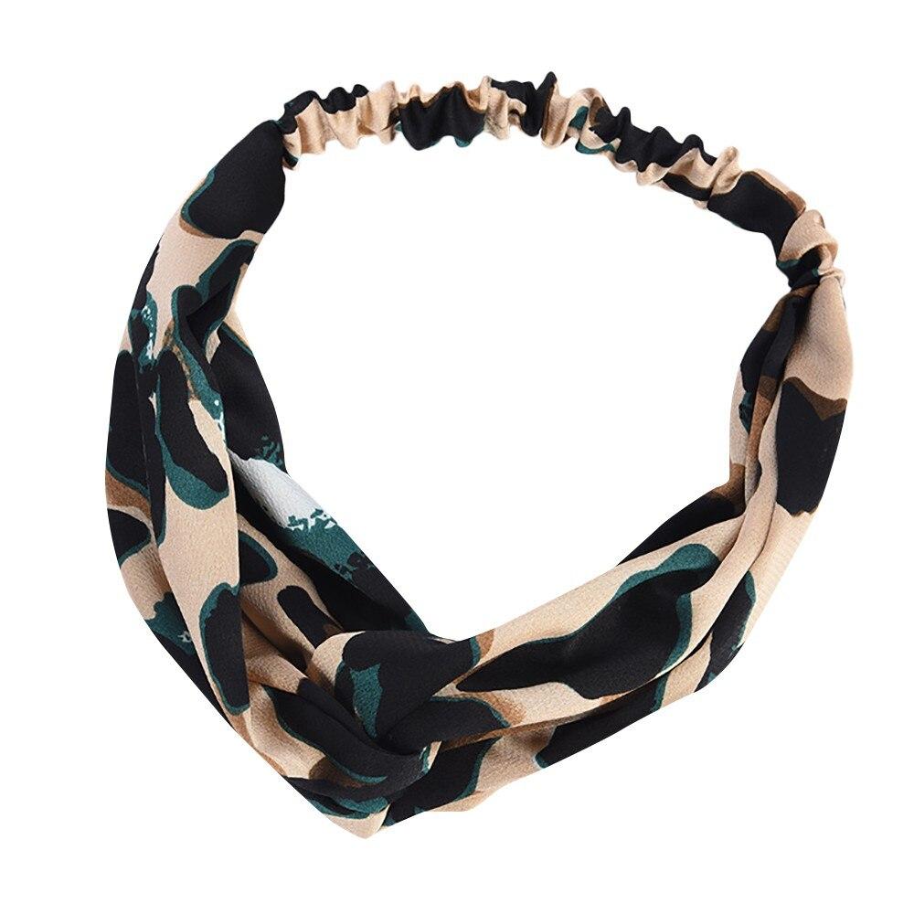 <+>  Женщины Boho Leopard Twist Узел Повязка на голову Эластичный Wrap Тюрбан Волос Группа Йога Спорт Дам ✔