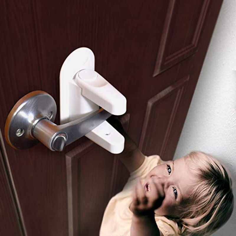 Safety Equipment Mother & Kids Plastic Child Safe Security Window Door Sash Lock Safety Lever Handle Sweep Latch Top Watermelons