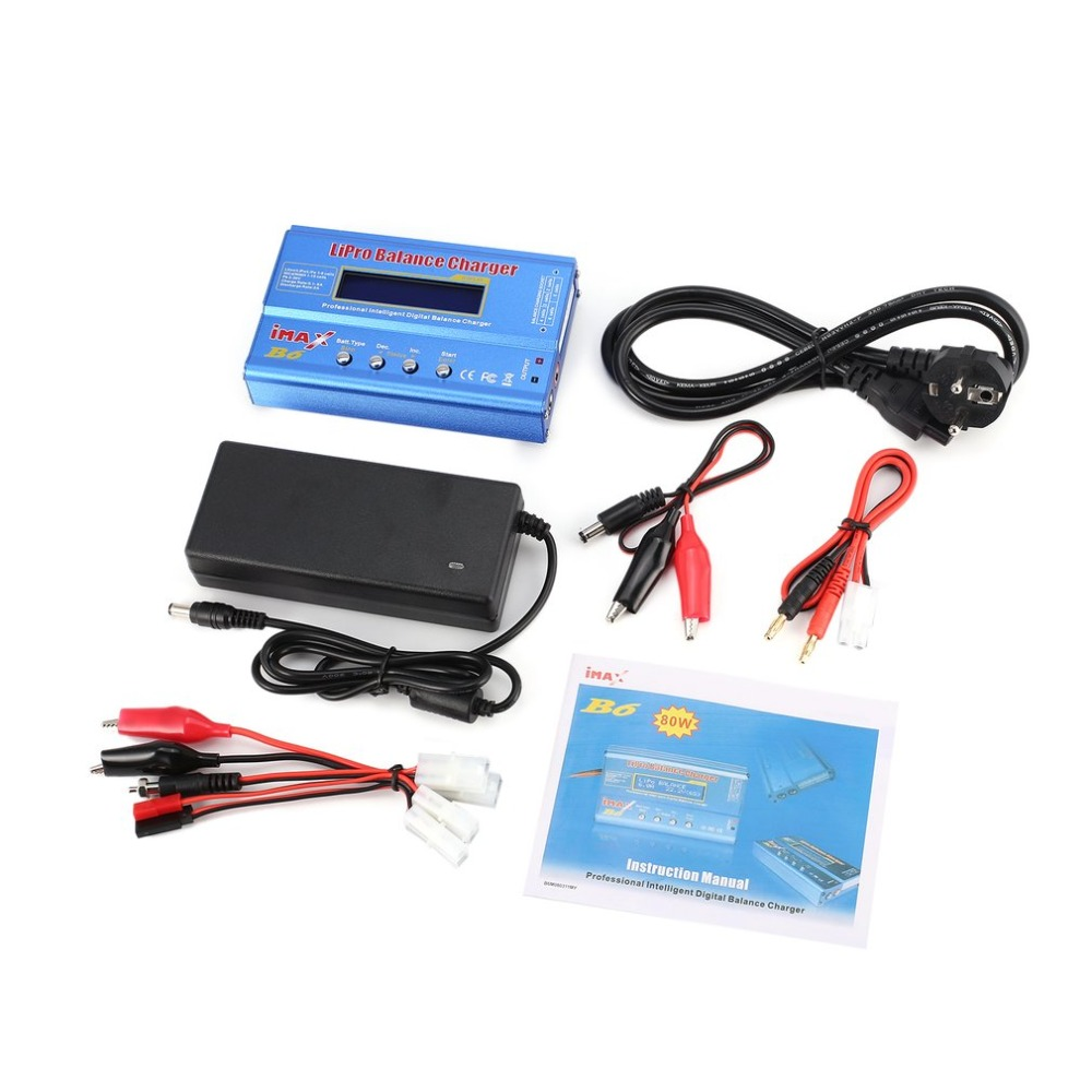 iMAX B6 80W 6A Lipo NiMh Li-ion Ni-Cd RC Balance Charger 10W 2A Discharger with 15V/6A AC/DC Adapter for RC Model Battery llt светильник сд ав сдсо 089 выход 1 5 часа ni cd ac dc