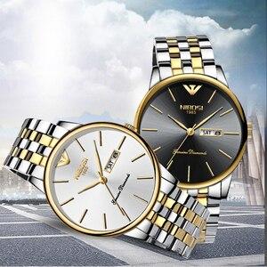 Image 2 - NIBOSI Heren Horloges Top Brand Luxe Zakelijke Quartz Gouden Horloge Mannen Vol Staal Mode Waterdichte Sport Klok Relogio Masculino