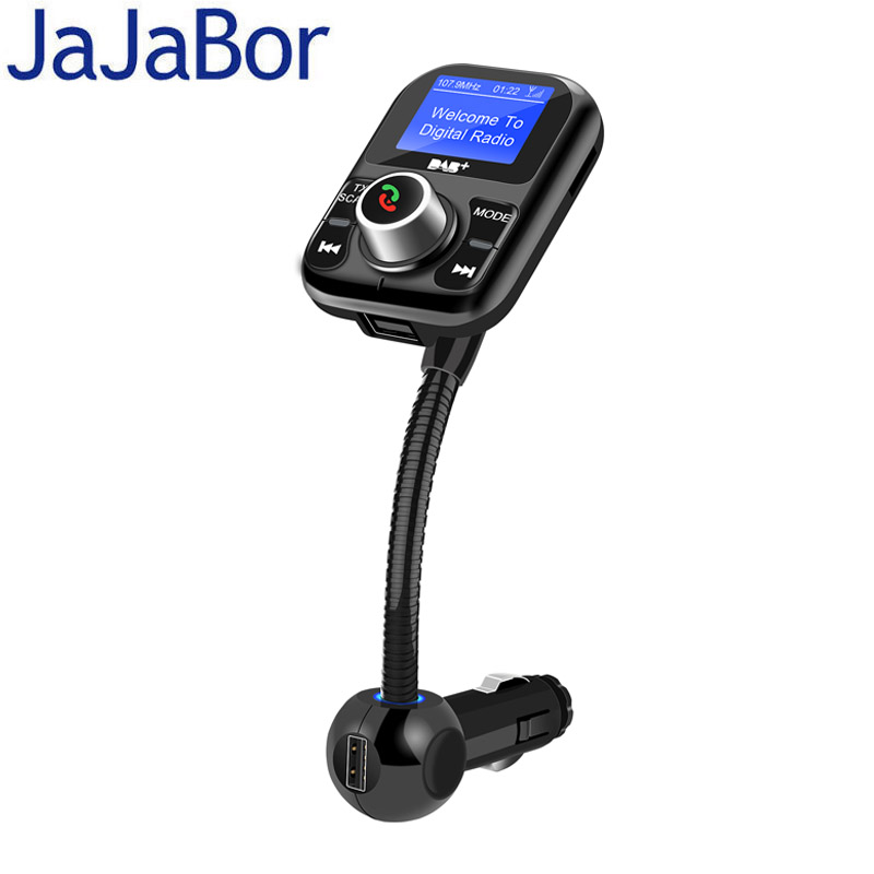 JaJaBor Car Radio Receiver Auto DAB FM Transmitter Digital Audio Broadcasting Bluetooth Handsfree Support TF Card / U Disk fdomain car dab plus digital radio receiver adapter fm transmitter with bluetooth handsfree