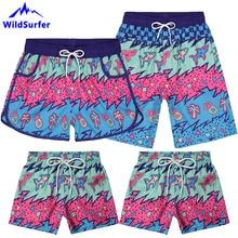 WildSurfer Family Beach Shorts Men Quick Drying Swimwear Boa