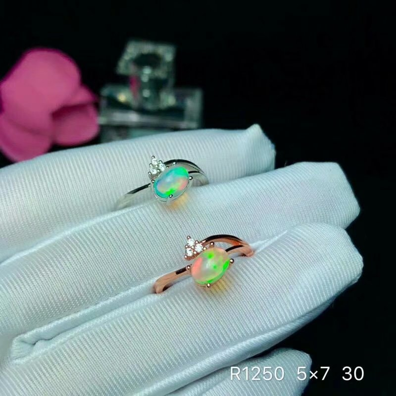shilovem 925 sterling silver real Natural opal Rings fine Jewelry women trendy wedding bands new open