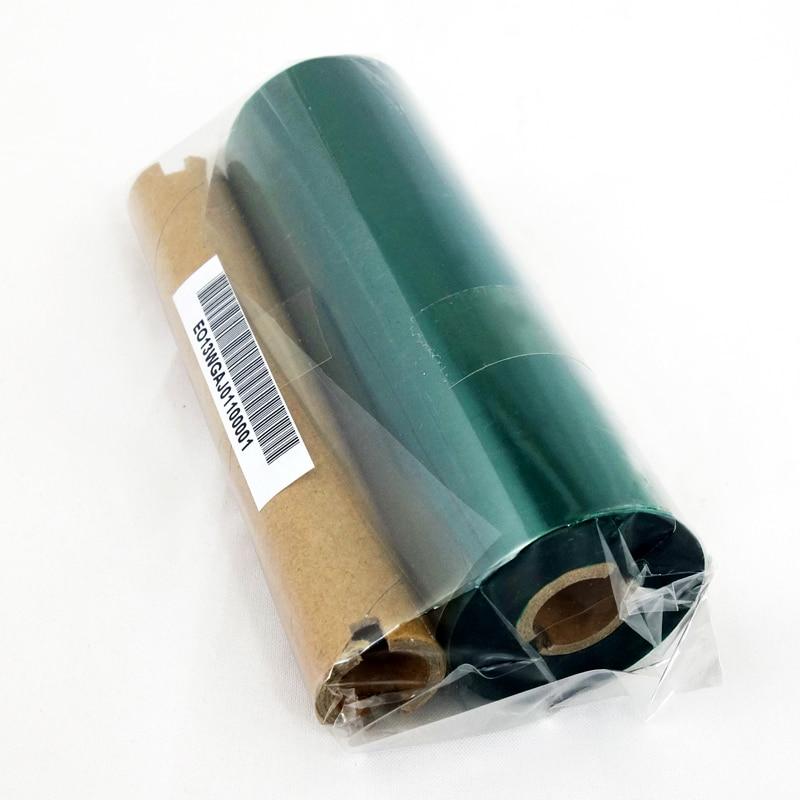 Verde fita de Cera de código de barras 110x90-1/2 polegadas núcleo use para impressão por Transferência Térmica para Mini Zebra/Avery impressora
