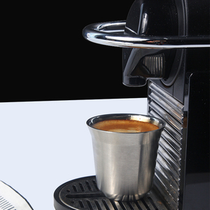 Image 2 - エスプレッソマグ 80 ミリリットル 160 ミリリットル 2 のセット、ステンレス鋼のエスプレッソカップセット、絶縁茶コーヒーマグ二重壁カップ食器洗い安全