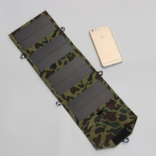 7W Foldable Solar Charger Outdoor Portable Solar Panel Charger For/iphone/ Mobile Power Bank Solar Battery Charger Free Shipping