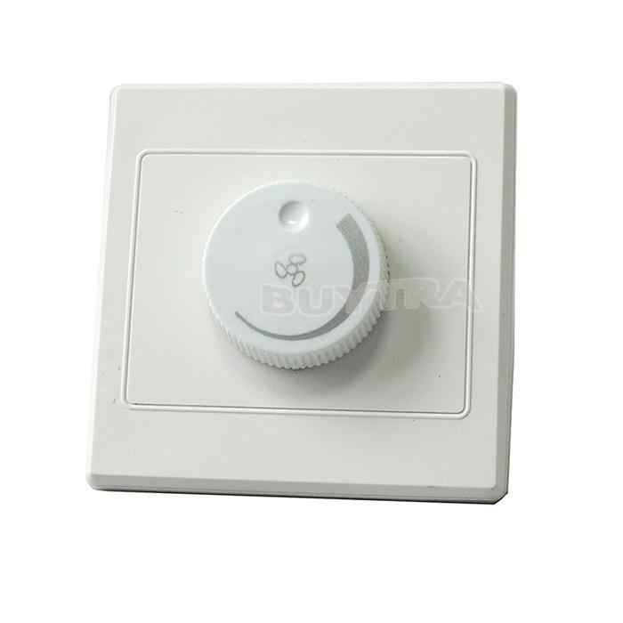 Kontrol Pencahayaan Ceiling Fan Speed Control Switch Dinding Tombol Dimmer Switch Dimmer Lampu Penyesuaian 220 V 10A