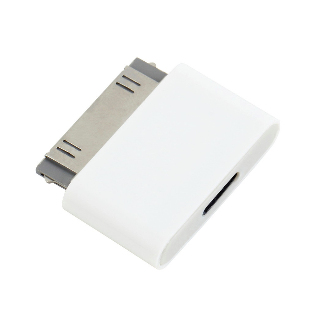 Hot! 1pc 8 Pin Female to 30 Pin Male Adapter for iPhone 4S for iPad 3 for iPod Touch 4 / Free 8pin to 30pin adapter White Hot 2017 hot 1pcs 63sn 37pb flux 1 8