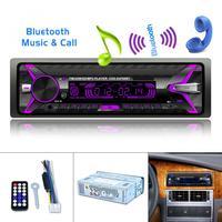 12V 1 Din 4 X 60W Bluetooth Car Radio Audio Stereo MP3 Player 7 Color Light