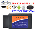 ELM327 WIFI аппаратное обеспечение V1.5 PIC18F25K80 чип OBDII считыватель кода ELM 327 WIFI V1.5 Поддержка Android/iOS/Windows OBD2 Диагностика