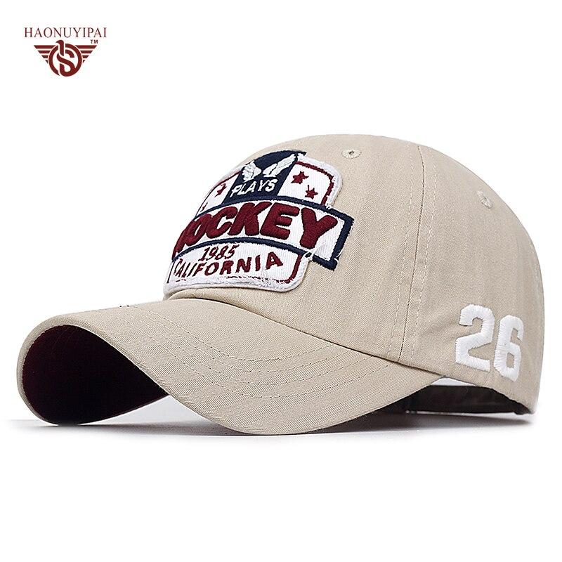 Prix pour Haute Qualité Casquettes de Baseball Lettre 4 Couleurs Gorras Snapback Cap Golf Polo Réglable Hockey Chapeau Pour Hommes Femmes ZB013