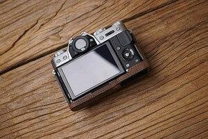 Image 4 - Fuji XT30 X T20 X T30 XT20 aparat Mr. Stone Handmade prawdziwy skórzany futerał do aparatu wideo pół torby aparat body