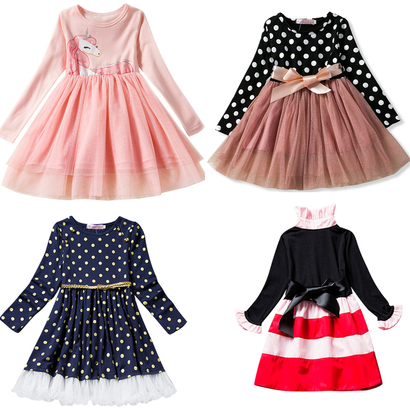 Baby Long Sleeves Dress For Girl Children New Festival Carnival Costume Kids Party Dresses For Girl 2 3 4 5 6 Toddler Clothes