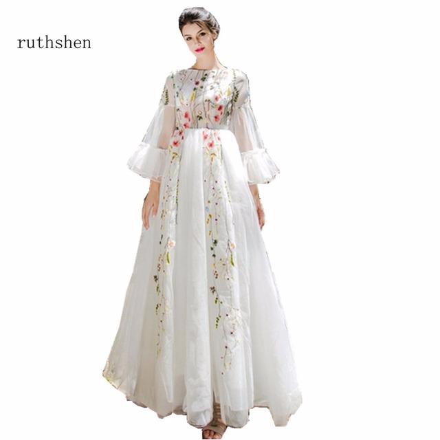 ruthshen Vestidos Baratos Wedding Dresses Cheap With Long Sleeves ...