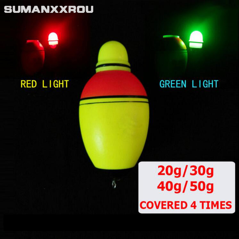 4Pcs/lot Can Change Color Luminous Electronic Led Fishing Floats with Light Sets of Fishing Poplings 20g-50g Floating Float YF1