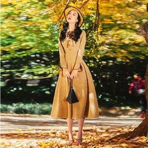 Image 4 - Alta qualidade explosões lazer combinando vestidos feminino xadrez primavera verão vestido casual