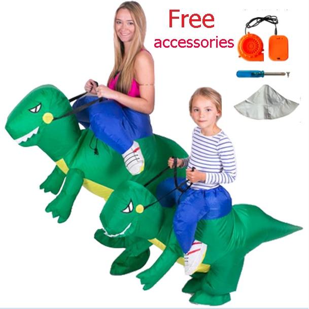 Aliexpress.com : Buy Adult Kids Fan Dragon T Rex Dino Rider Purim ...