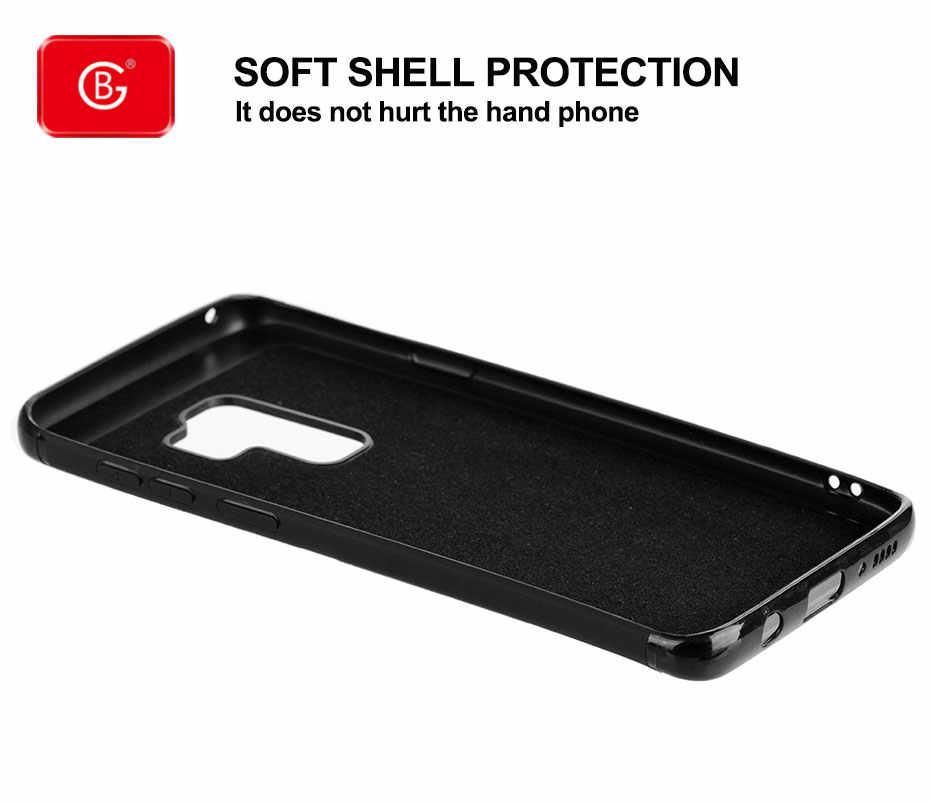 Ultra Tipis Denim Case Kartu Baru untuk Samsung Galaxy Note 8 9 S10 S9 PLUS Silikon Shockproof 360 Pelindung penutup Belakang Kasus