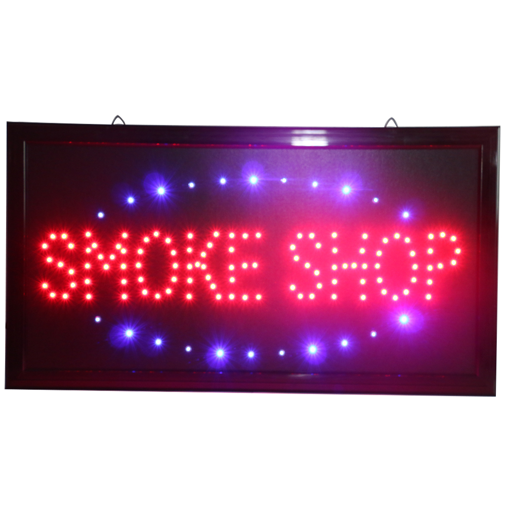 CHENXI Led Neon Smoke Shop Vape Shop Open Store Business Sign Vape E-liquid E-Cigarette Sign Board Advertising Light Indoor.