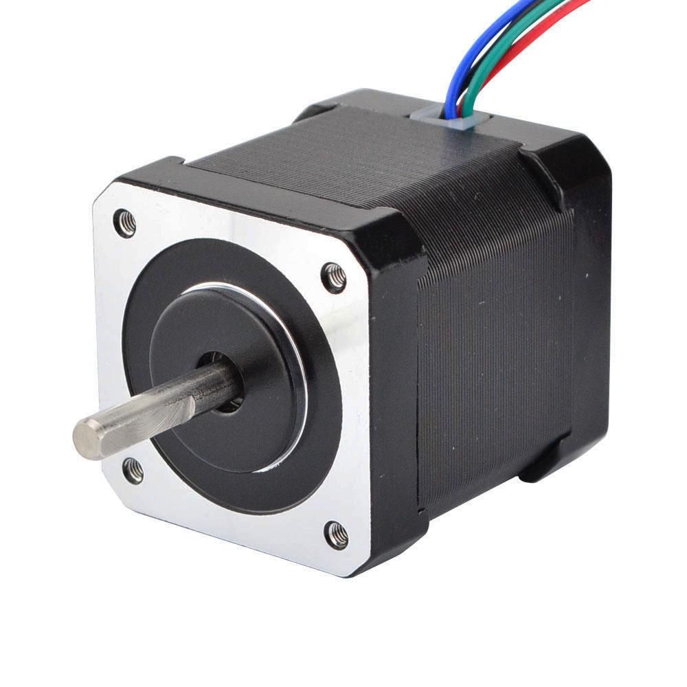 5 pièces Nema 17 moteur pas à pas 4 fils 48mm 59Ncm (84oz. in) 2A 1 m câble (17HS4801) Nema17 moteur pas à pas pour bricolage imprimante 3D CNC Robot XYZ - 2