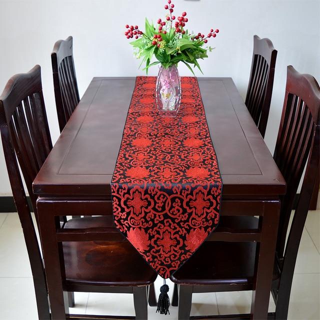 Extra Lange Seidenbrokat Tischläufer Chinesischen stil Esstisch Tuch ...