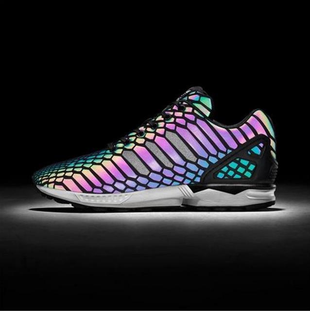 2017 новый альбом хамелеон красочные мужская повседневная обувь мужская мода и пара обувь легкую обувь светоотражающие бег тренер