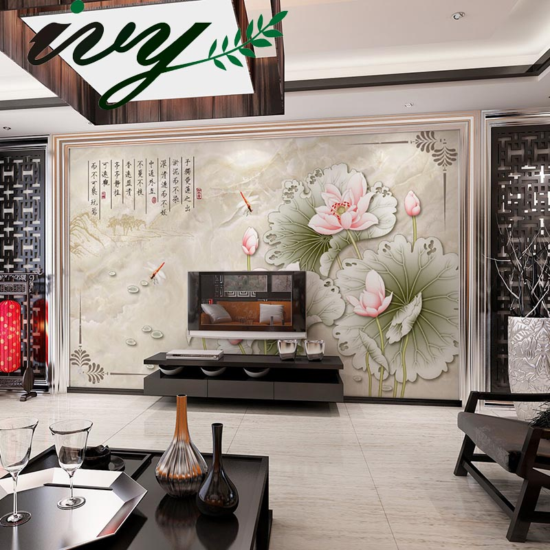 3D Wallpaper for Walls Chinese Retro Painting Lotus Murals Customized Wall Paper papel de parede for Home Decor customized home personalized seamless integration of the abstract paintings lotus wallpaper 1x3m