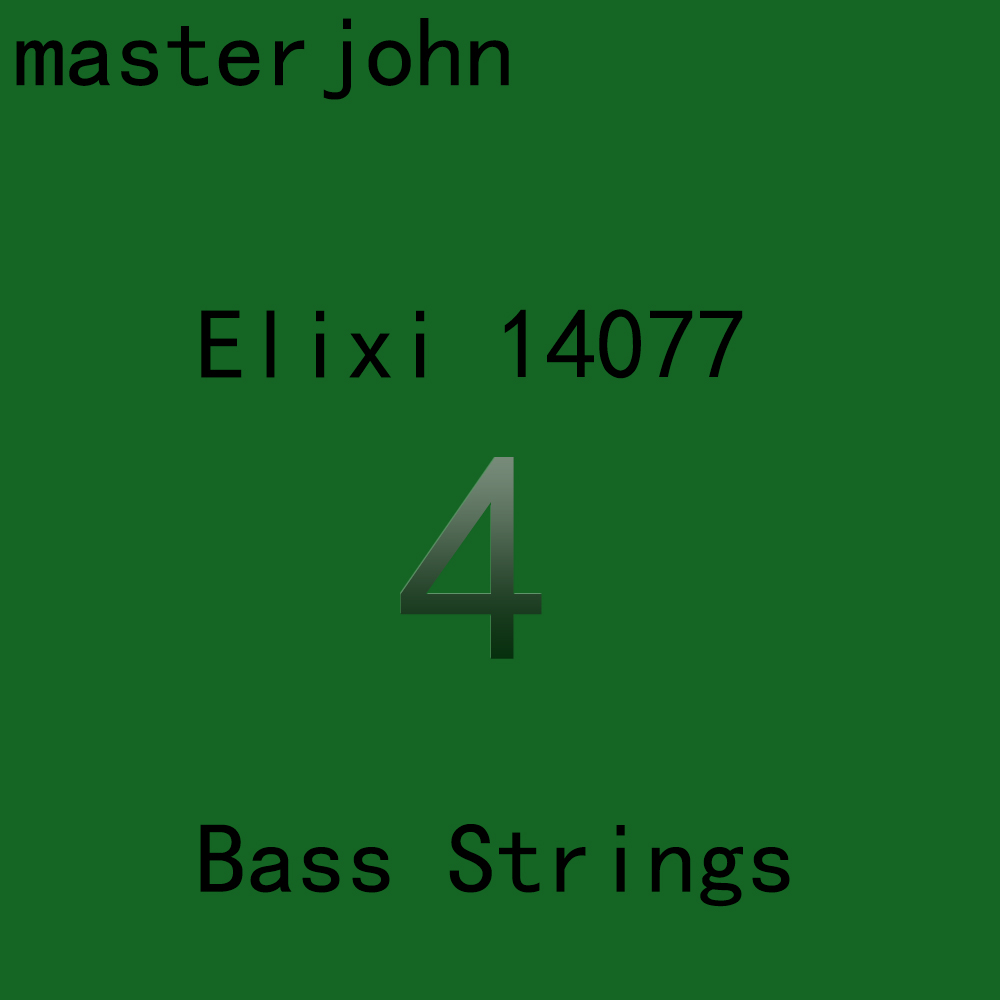 Elix NANOWEB 14077/14777 Electric Bass Strings 4/5 Strings Ultra Thin Coating Steel Stings 045-105(045-130) rotosound rs66lh bass strings stainless steel
