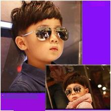 Curtain Baby Boy Girl Kid Sunglass Vintage cat eye Child alloy frame kid eyeglass 100%UV Protection Oculos De Sol Gafas