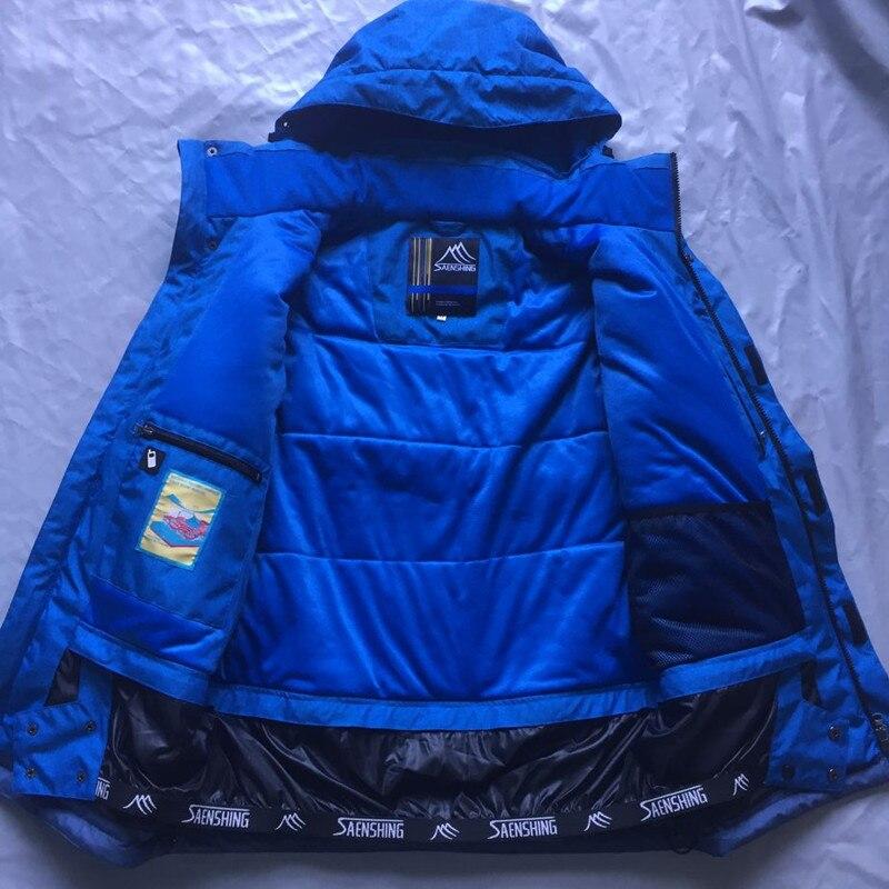 SAENSHING marque veste de Ski hommes imperméable Super chaud veste de Snowboard manteaux de neige respirant en plein air Ski et Snowboard porter - 6