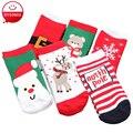 Nueva Moda Niños Niñas Calcetines Para Bebé Niño de Los Cabritos Del Estilo de la Navidad de Punto de Algodón Niños Calcetín 1-6 Años