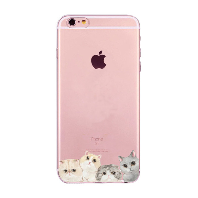 Cat Design Silicone Phone Cases for all iPhone Mobiles