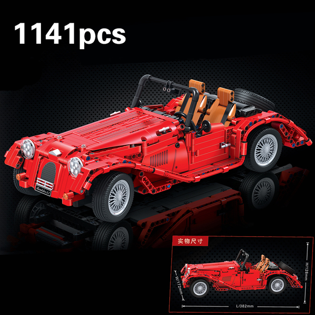 Jalopy Roadster 1141PCS Classic Car Creator Technic Model Building Blocks Bricks legoings City Models Diy Toys For Children Boys