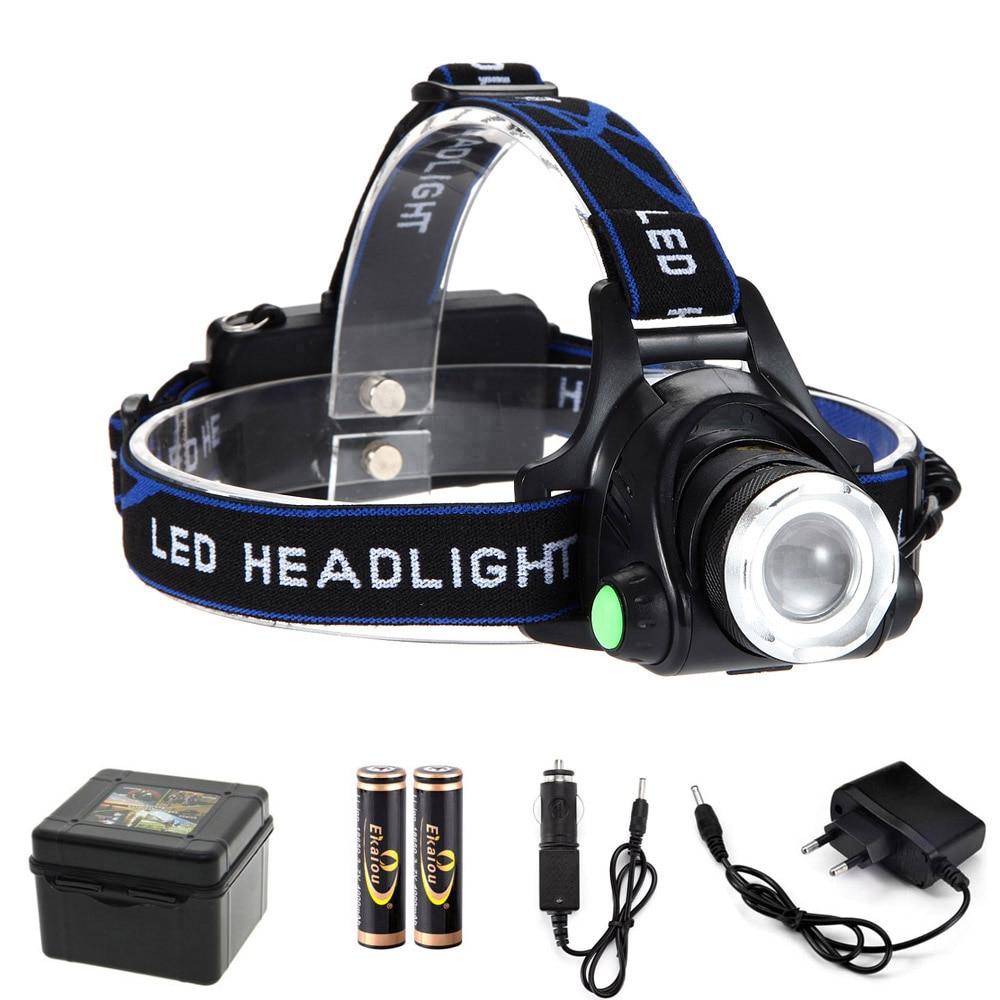 Karstā 5000 lūmenu galvas lampas lāpas gaismas uzlādējams tālummaiņas ūdensnecaurlaidīgs augstas jaudas LED lukturis velosipēdu kempings pārgājienu gaismas komplekts