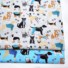 Fabric breathable cotton twill in hand sewing fabric for  baby bedding home textile printed dogs