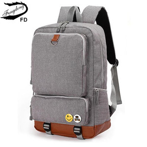 Image 2 - Fengdong school backpacks for boys black laptop computer backpack kids school bag bagpack men travel bags backpacks for children