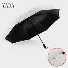 YADA High Quality Designer Cartoon Umbrella Rain Women Sunny And Rainy Car For Womens Windproof Folding Umbrellas YS004