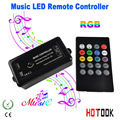 12-24 V 20 Chaves Sem Fio Controle Remoto IR LED de Música Som Controle RGB led Controlador Dimmer para LED RGB Tiras CE RoHS x 10 pcs