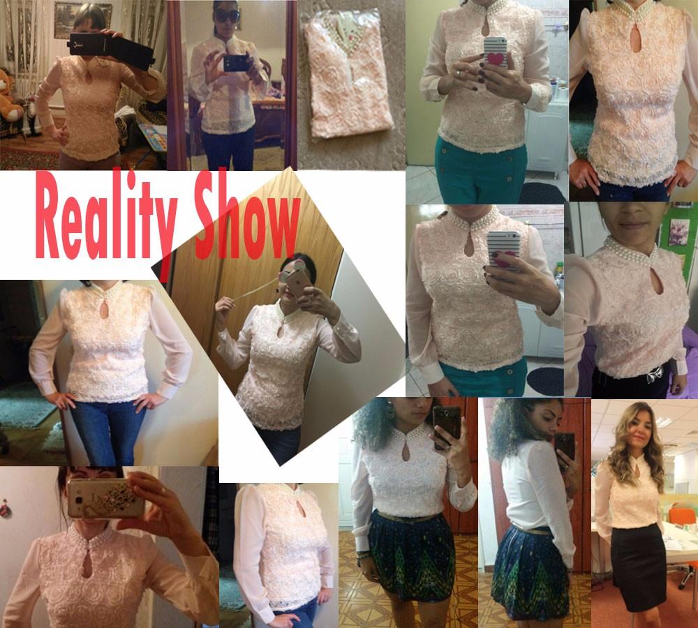 HTB1fu.VMVXXXXbJXFXXq6xXFXXX6 - New Women Chiffon blouse Flower long sleeved Casual shirt