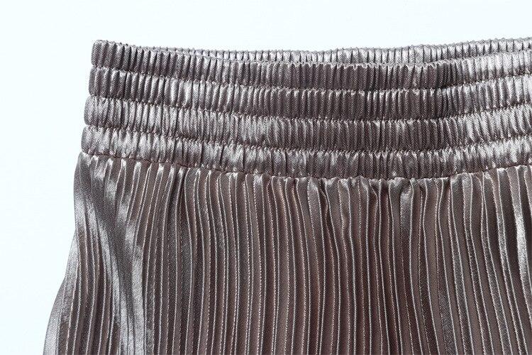 Midi plissée élastique métallisé 20