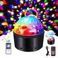 RGB сценический светильник, портативный DJ диско-шар, ночник для KTV, для свадебного торжества, шоу, 9 цветов, Музыкальный клуб, стробоскоп, свети...
