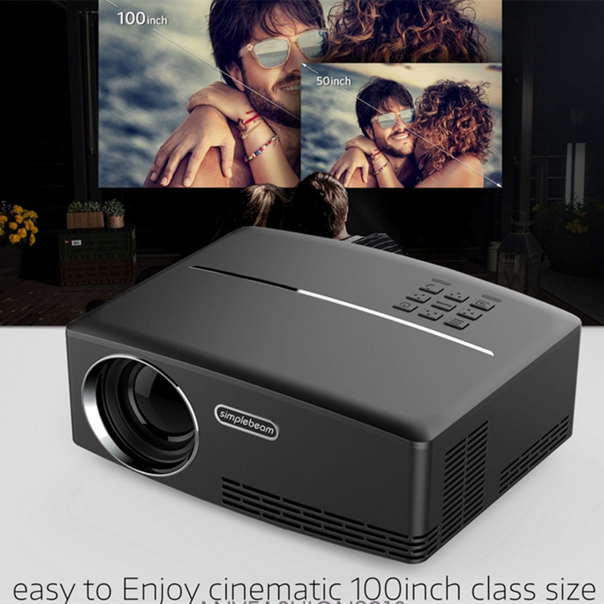 1800 Lumens Support 1080P GP80 LED Video Projector Home Projector for Home Cinema Theater TV Laptop Movie Games US Plug crenova xpe460 led video projector 1080p 1200 lumens office projector with hdmi for home cinema theater tv laptop sd card