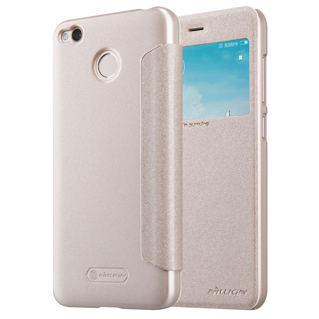 check out 339ae fd05b US $7.91 20% OFF|redmi 4x case cover (5.0 inch) NILLKIN Sparkle PU leather  flip cover view window for xiaomi redmi 4x case cover -in Flip Cases from  ...