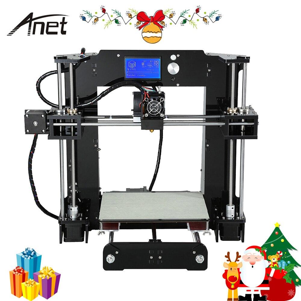 Anet A6 A8 Impresora 3D Imprimante Facile Assembler avec Auto Nivellement Grande Taille De Noël cadeaux Reprap i3 DIY Imprimantes SD carte