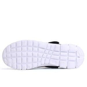 Image 4 - 2020 męskie sandały klapki Mesh oddychająca mężczyzna kobieta buty męskie Sandalias letnie buty Sandalen Sandalet duży rozmiar 46 47
