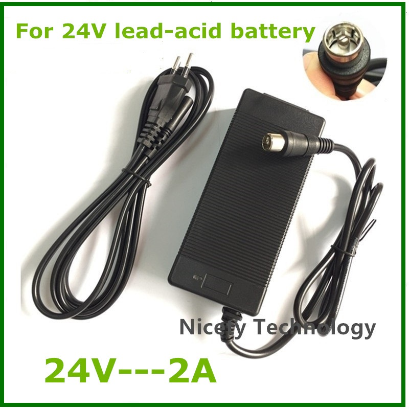 24V 2A lead-acid battery <font><b>Charger</b></font> <font><b>electric</b></font> scooter ebike <font><b>charger</b></font> wheelchair <font><b>charger</b></font> <font><b>golf</b></font> <font><b>cart</b></font> <font><b>charger</b></font> RCA metal connector good image
