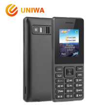 Uniwa ECON No.4 Feature Mobile Phone GSM Unlock Dual SIM Card Old Man Phone FM Radio MP3 Button Russian Key Keyboard Cellphone