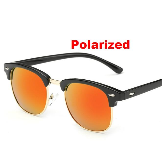 0aea5df818 F3 Classique Moitié Métal Polarisées lunettes de Soleil Hommes Femmes Marque  Designer Miroir Lunettes de Soleil Mode Femme Lunettes Un UV400
