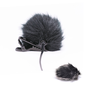 Image 2 - Dark grey Artificial Fur Microphone Windscreen Outdoor MIC Windshield Wind Muff For Lapel Microphone 1PC